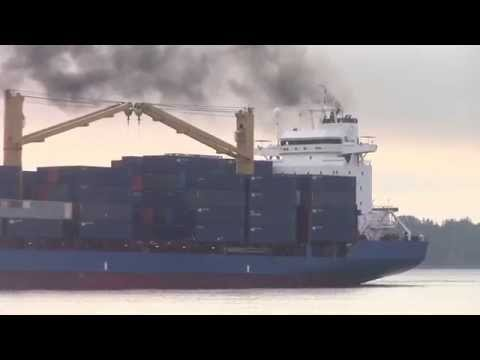 Container Ship HELENE J inbound into Port of Halifax, NS (Aug 31, 2015)