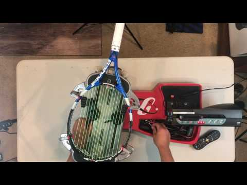 How to String a Tennis Racket Gamma Progression with Wise 2086