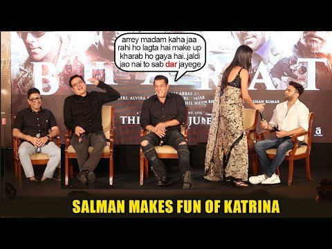 Watch Salman Khan make FUN of Gf Katrina Kaif again when she leaves Bharat event for personal issue