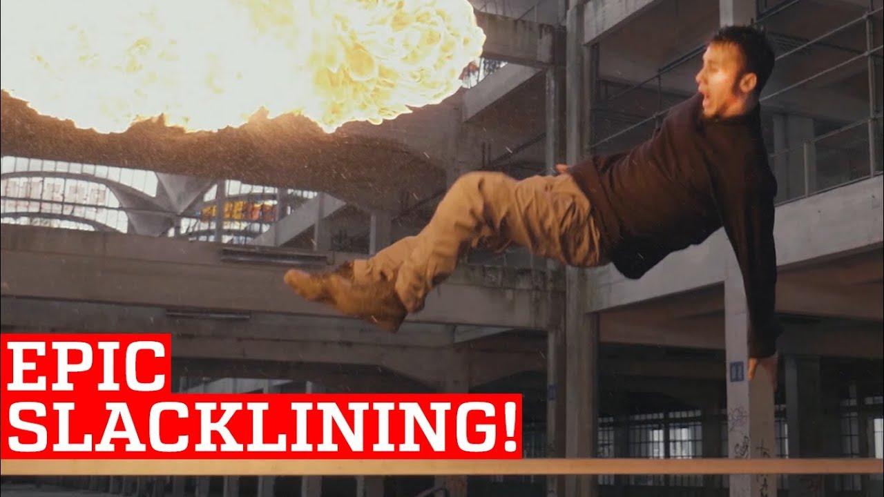 Epic Slackline & Trickline Skills and Stunts! | People Are Awesome