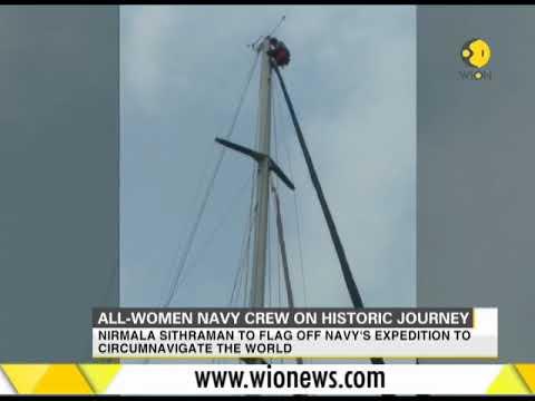 India: All-women navy crew on around-the-globe mission