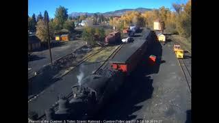 10/19/2018 A 9 car train 215 arrives into Chama, NM