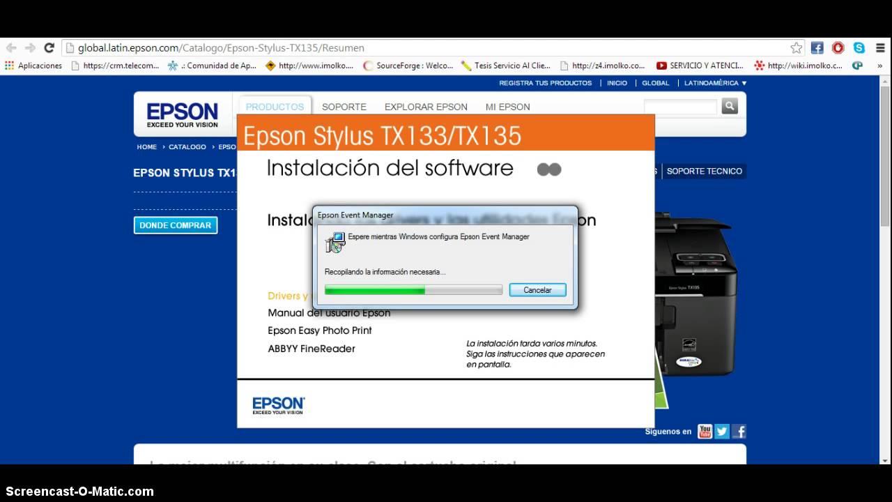 instalaci n multifuncional epson stylus tx135 youtube rh youtube com manual da impressora epson tx125 manual de despiece de impresora epson stylus tx125
