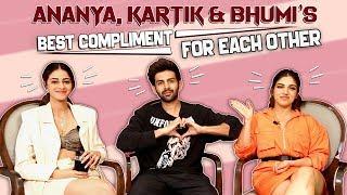 Kartik Aaryan, Ananya Panday & Bhumi Pednekar Share First Impressions