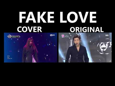 Fake Love-BTS And (G)I-DLE Comparison