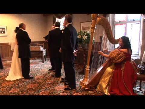 Canon In D Played By Harp Angel Harpist At Wedding Banff