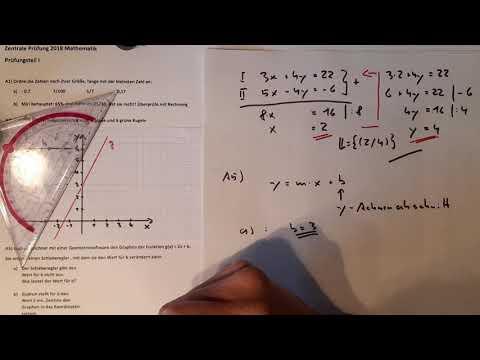 Prüfungsteil 1 Mathe