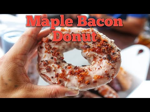 Holy Donuts - Maple Bacon Glaze Donut - Eventide - Brown Butter Lobster Roll - Portland,ME