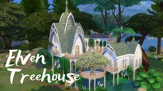 ELVEN FOREST TREEHOUSE | The Sims 4 Speed Build | NOCC