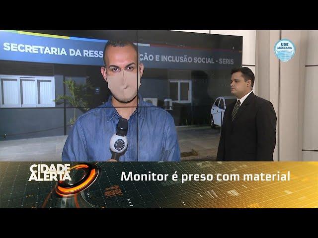 Monitor é preso com material que seria entregue a reeducandos em Girau Ponciano