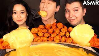 ASMR CHICKEN WINGS & STRETCHY CHEESE with STEPHANIE SOO & NIKOCADO AVOCADO (No Talking)