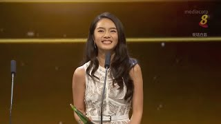 Chantelle Ng wins Best Newcomer Award in Star Awards 2018
