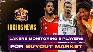 <b>Lakers</b> Buyout Targets Revealed