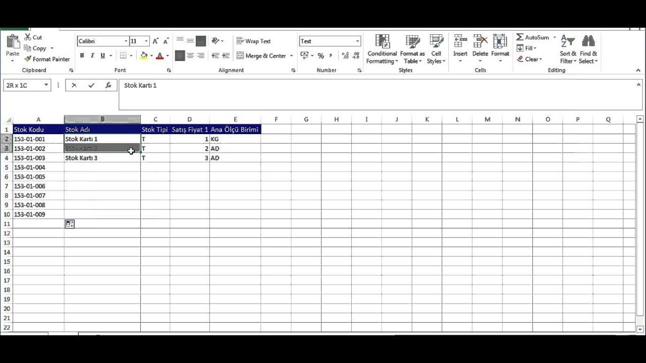 Axoft İş Yazılımları Excel Den Stok Ve Cari Kartı Aktarımı