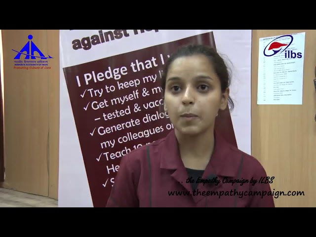 A Message by the Student of RHTC at Hepatitis Awareness Camp, Najafgarh