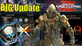 OPERATION APOCALYPSE Z.. INSANE NEW DLC WEAPONS, REAPER SPECIALISTS, and MORE! (COD BO4 1.20 UPDATE)