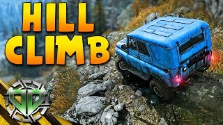 Spintires: Mudrunner Gameplay : Tallest Hill Climb & Swamp Driving! (PC Let