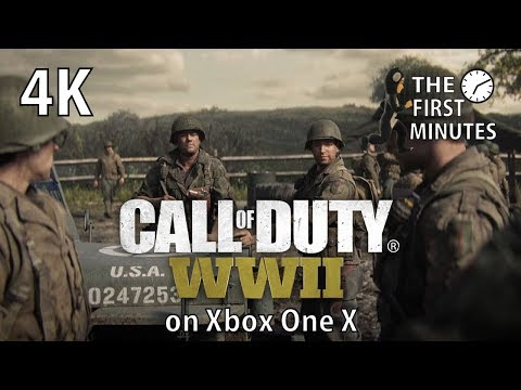 [4K] Call of Duty WWII The First Minutes on Xbox One X