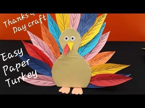 Awesome Paper Turkey L Very Easy Paper Turkey L Paper Turkey Craft