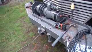 Vintage homebuilt winch. Aircraft starter motor.