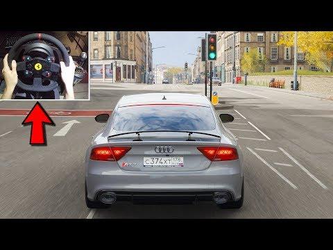 Forza Horizon 4 - Audi RS7 Sportback (w/ Steering Wheel) Gameplay thumbnail