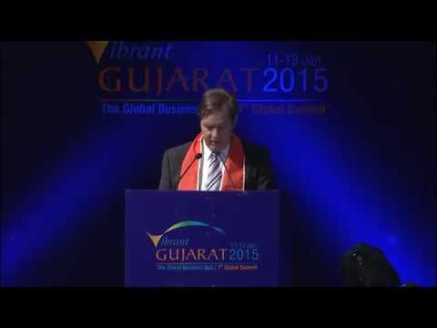 Mr. Simon Smits, Hon'ble Vice Minister of Foreign Trade at Inaugural Session of VGGS'15
