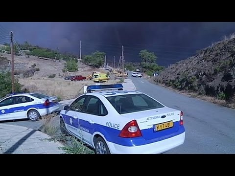 Greece, Britain and Israel help fight massive forest fire in Cyprus