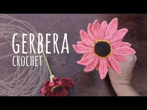 Tutorial Crochet Flower Gerbera Youtube