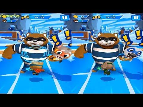 Talking Tom Hero Dash - New Update 2019 Teamwork Superpower SUPER GINGER VS SUPER BEN Gameplay