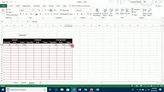 MS-Excel 2013 Stock Summary