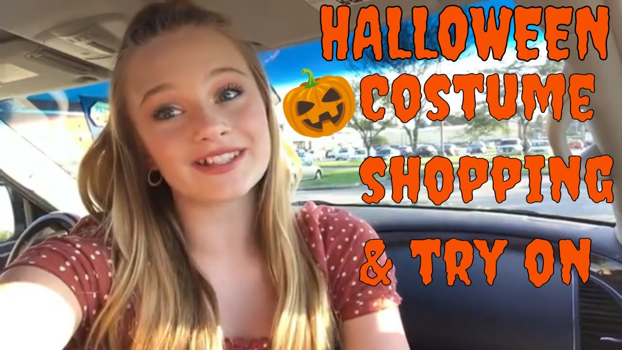 halloween costume shopping try on haul at spirit costume ideas 2018 princess ella