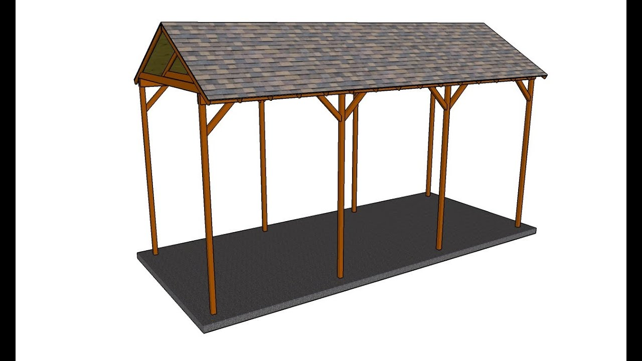 How to build a wooden carport - YouTube
