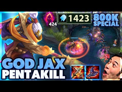 1v5 GOD JAX PENTAKILL | 800k SPECIAL | THIS DAMAGE IS BROKEN - BunnyFuFuu
