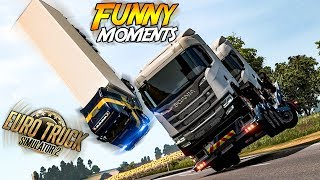 Euro Truck Simulator 2 Multiplayer Funny Moments & Crash Compilation #98