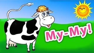 Детские песни про животных на ферме. Изучаем звуки.
