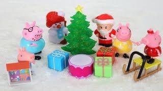 🎅🏻🎄🎁Navidad de la Familia Pig en Totoykids con Caja de sorpresas 🎁 de Papá Noel!!!