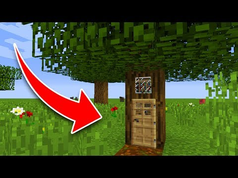 How to Live Inside a Tree in Minecraft Tutorial (Pocket Edition, PS4/3, Xbox, PC, Switch, Wii U)