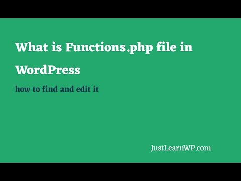 What is Functions php File in WordPress How to Edit it Tutorial 2020