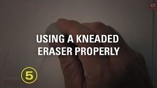 How to Use a Kneaded Eraser Properly (Must Have Skills #3)