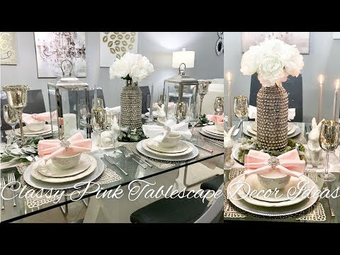 Pink Blush Home Decor ideas Spring Glam Collab Table Setting