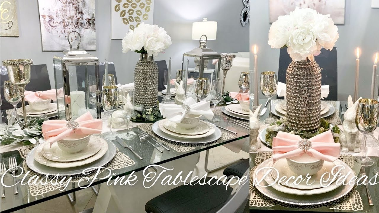 Glam Dining Room Decorating Ideas Pink Blush Decor Youtube