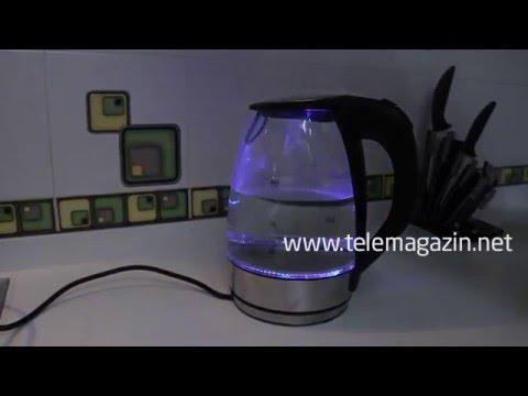 Чайник стеклянный электрический с подсветкой