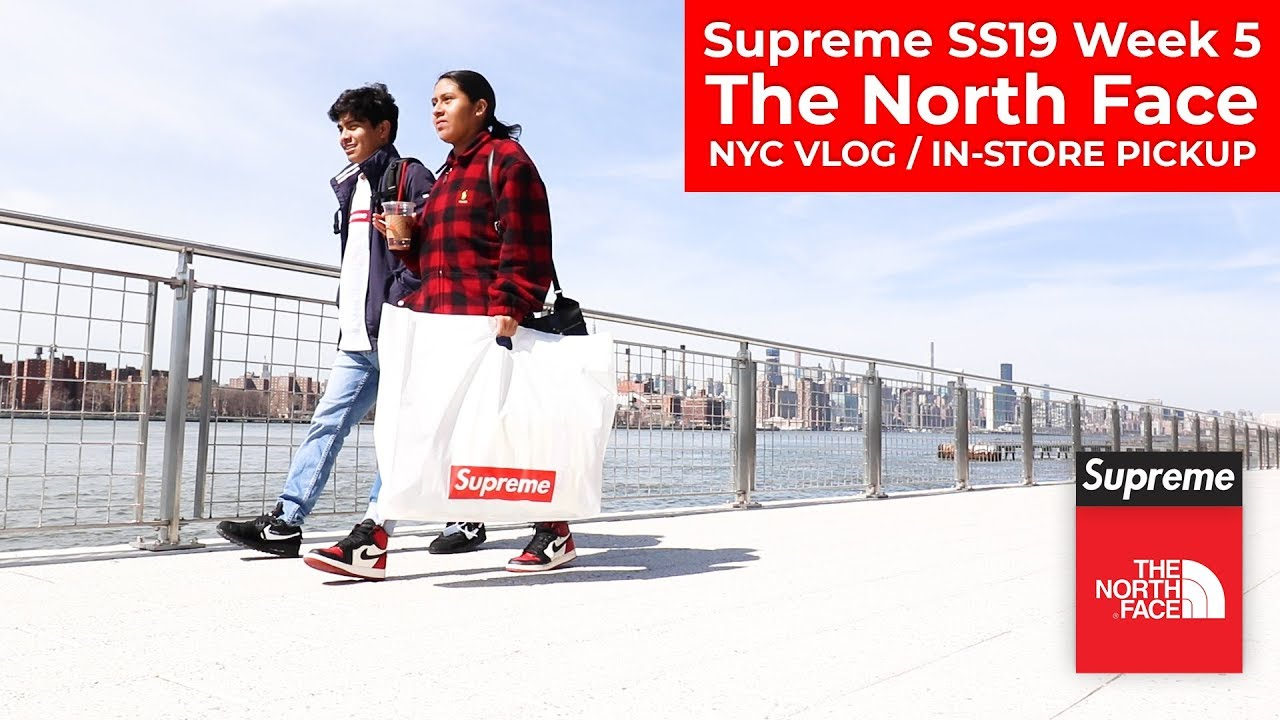Download Supreme x TNF SS19 Week 5 NYC Vlog / In-Store Pickup, The North Face Fleece, Parka, Brooklyn