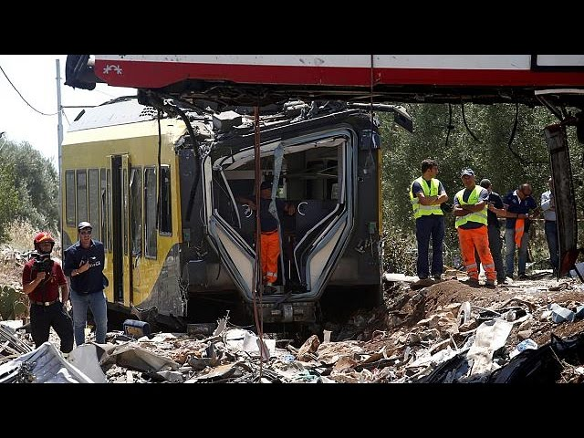 "Southern Italy train crash possibly caused by ""human error"""