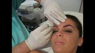 Machiaj semi permanent sprancene Salon Slimart make-up artist Zarescu Dan Bucuresti