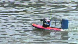 Fast Homemade rc airboat