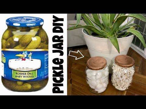Do Not Throw Away Your Pickle Jar Pickle Jar Diy Ideas Youtube