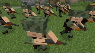 Minecraft: Custom NPC Mod - How to make NPCs march