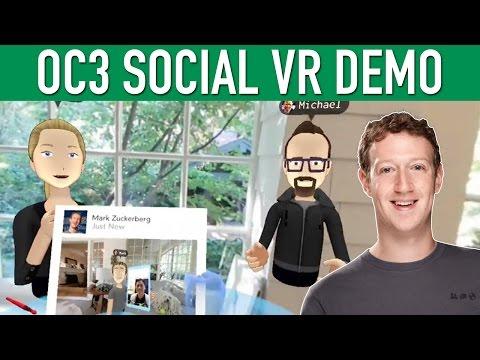 Facebook Mark Zuckerberg Social VR Demo OC3 Oculus Connect 3 Keynote