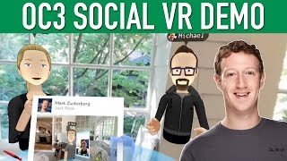 Facebook Mark Zuckerberg Social VR Demo OC3 Oculus Connect 3 Keynote